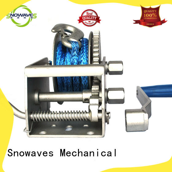 Snowaves Mechanical best electric boat winch winch for camp