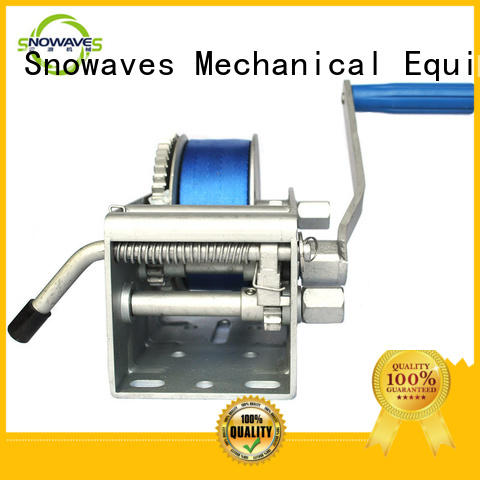 Snowaves Mechanical hand Marine winch for business for one-way trips