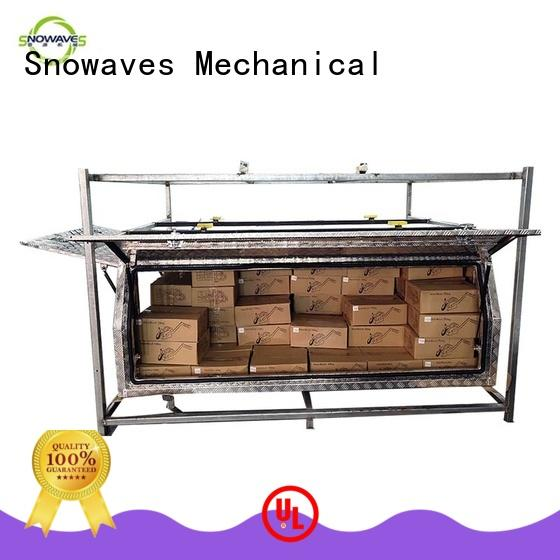 Snowaves Mechanical Top aluminum trailer tool box factory for boat