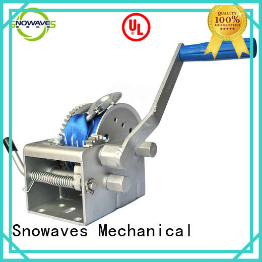 Snowaves Mechanical winch Marine winch factory for camp