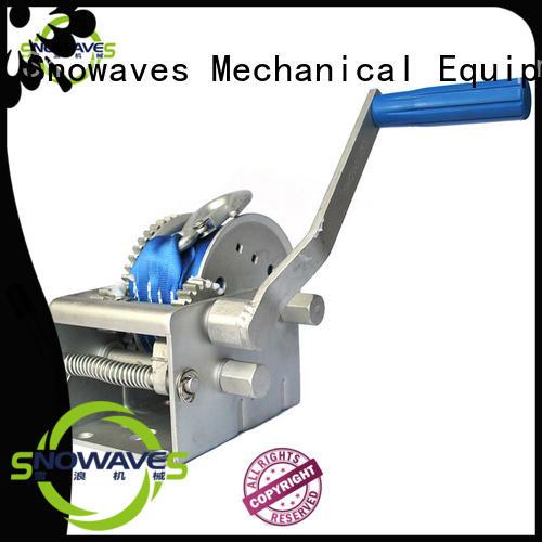 Snowaves Mechanical hand marine winch company for camp