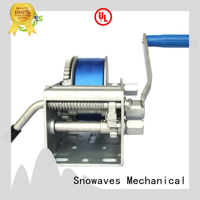 Snowaves Mechanical Latest marine winch for sale for camp