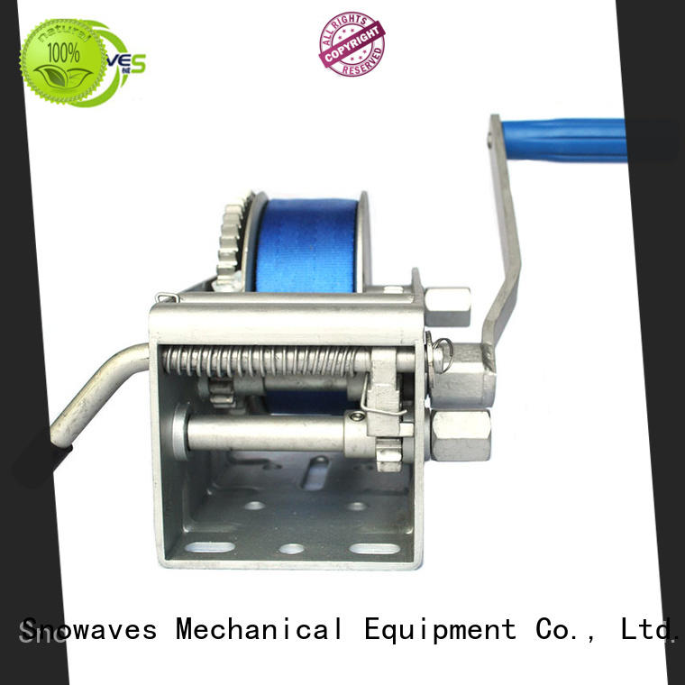 Snowaves Mechanical useful Marine winch pulling for one-way trips