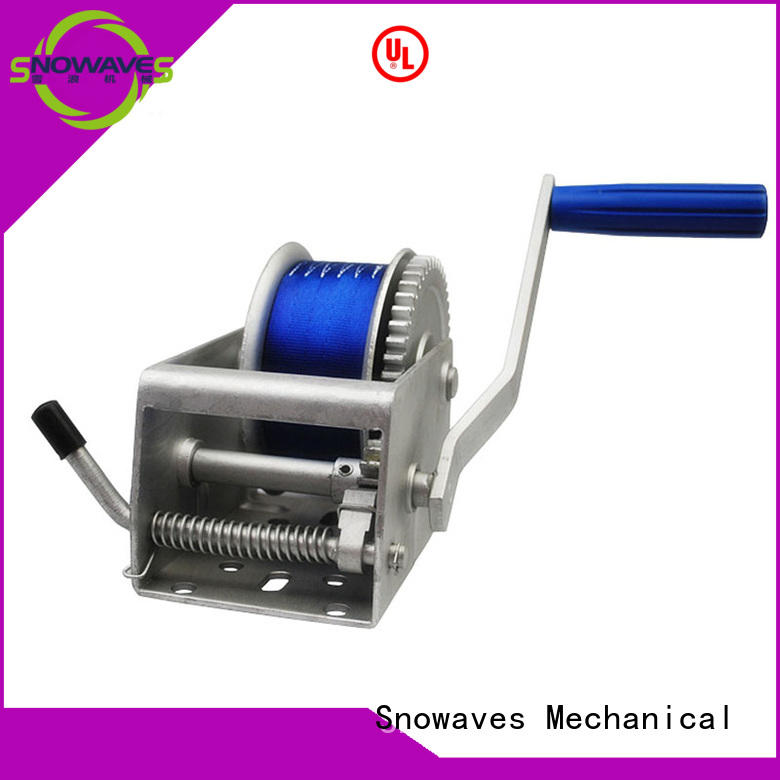 Snowaves Mechanical speed Marine winch Suppliers for trips