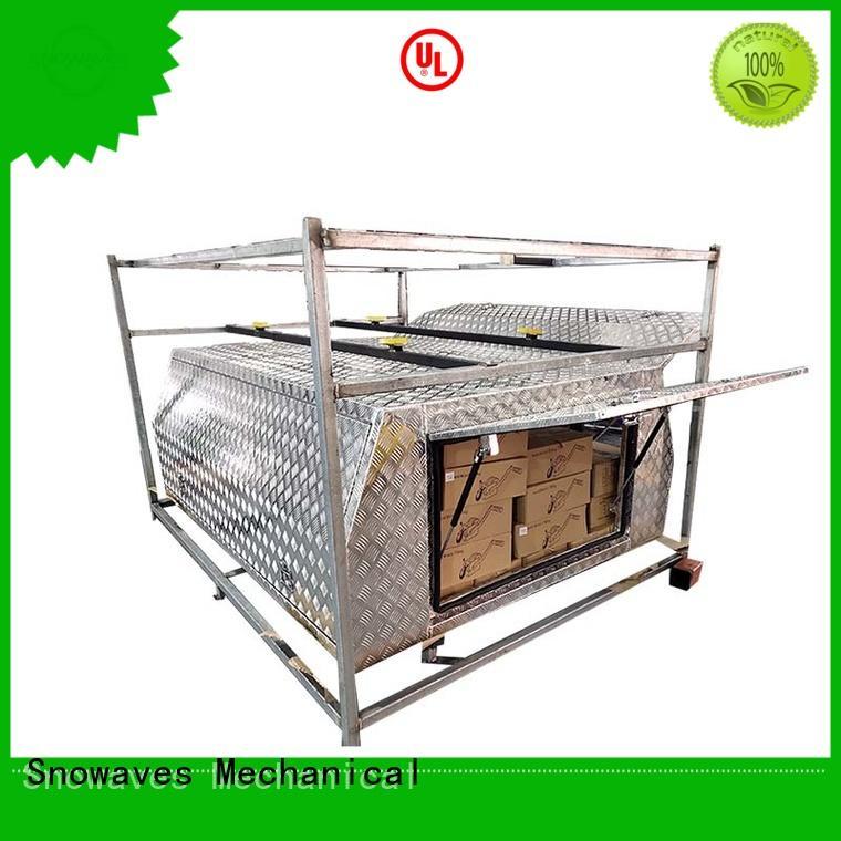 Snowaves Mechanical truck aluminium tool box factory for picnics