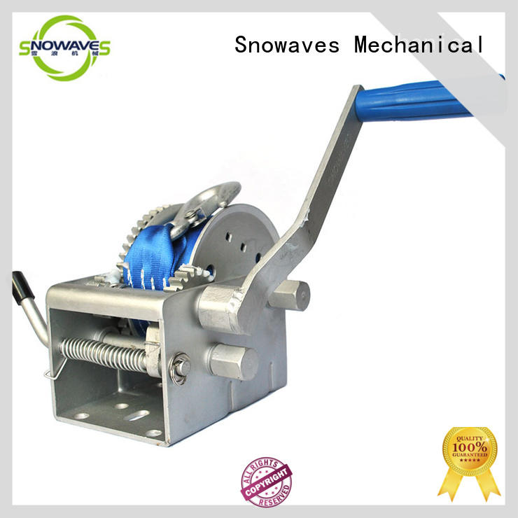 Snowaves Mechanical single Marine winch for one-way trips