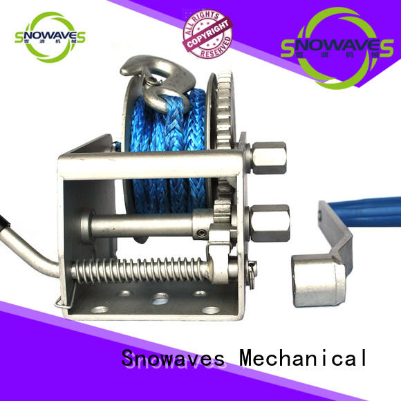 Snowaves Mechanical hand Marine winch factory for camping