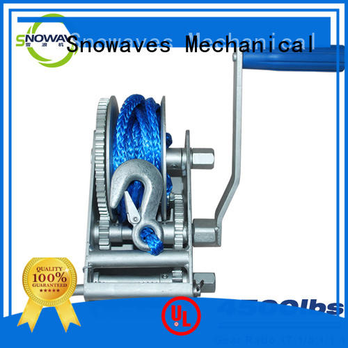 Snowaves Mechanical trailer Marine winch wholesale supplier for camping