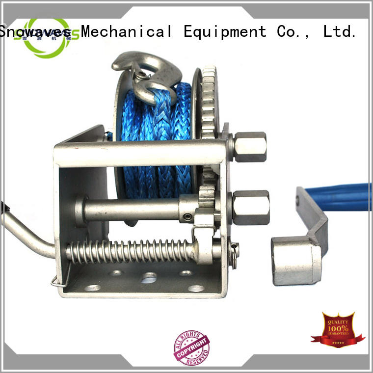 Snowaves Mechanical winch Marine winch factory for trips