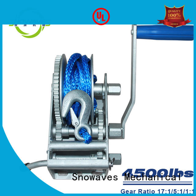 Snowaves Mechanical Latest Marine winch Suppliers for trips