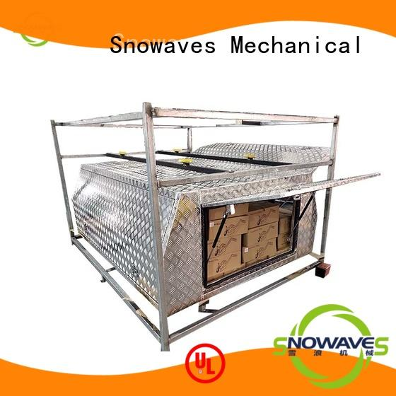Snowaves Mechanical truck aluminium checker plate toolbox Chinese supply for car