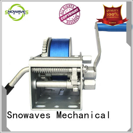 Snowaves Mechanical first-rate electric boat winch with certification for one-way trips