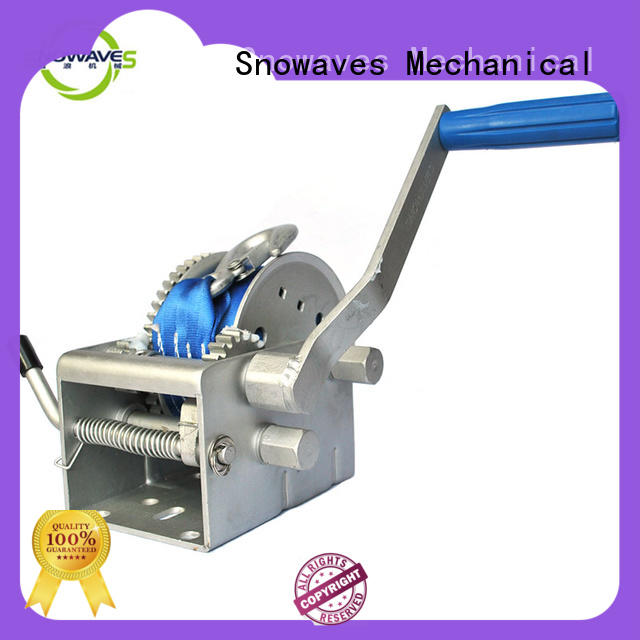 Snowaves Mechanical pulling Marine winch Supply for picnics