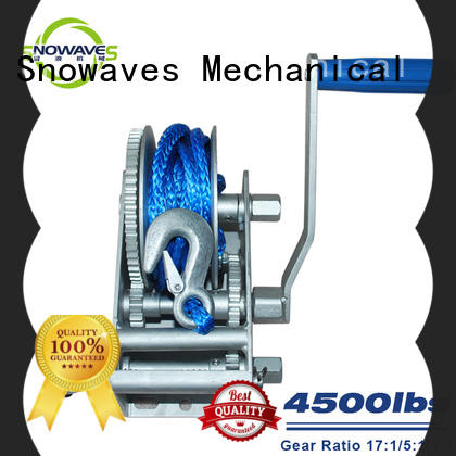 Snowaves Mechanical speed Marine winch manufacturers for picnics