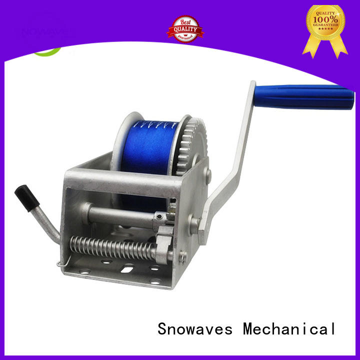 Snowaves Mechanical Wholesale Marine winch Supply for trips
