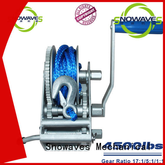 Snowaves Mechanical Wholesale Marine winch for business for camp