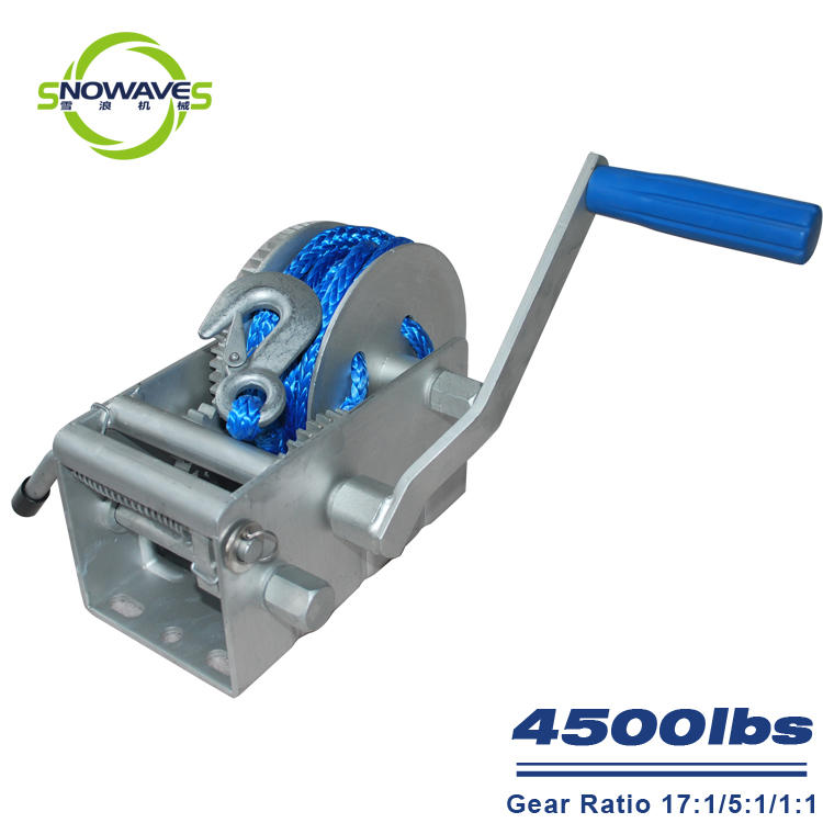 Trailer hand winch 17:1/5:1/1:1 (3 speed) 2000kg pulling SW4500-2