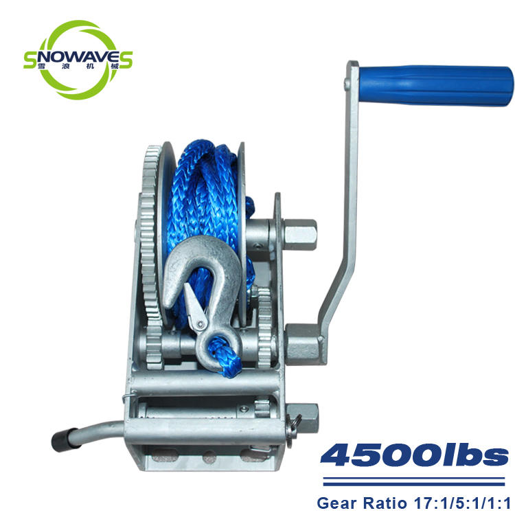 Trailer hand winch 17:1/5:1/1:1 (3 speed) 2000kg pulling SW4500-1