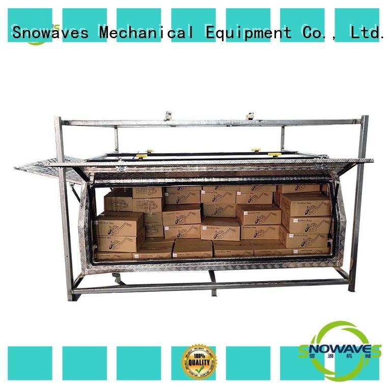 Snowaves Mechanical truck aluminium tool box Supply for camping