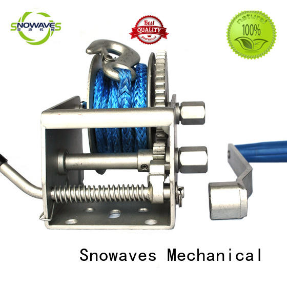 Marine winch pulling for one-way trips Snowaves Mechanical