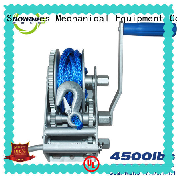 Snowaves Mechanical Wholesale Marine winch company for picnics