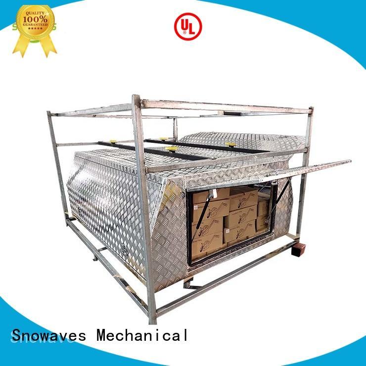 Snowaves Mechanical truck aluminum trailer tool box manufacturers for picnics