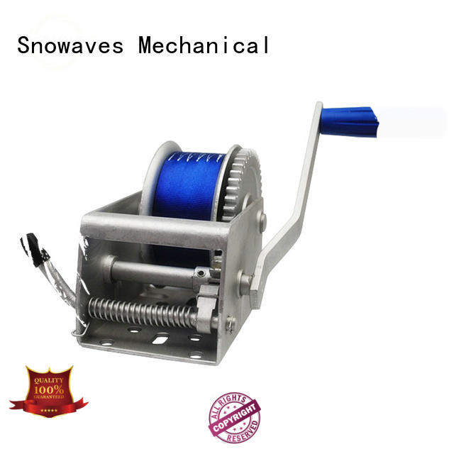 Snowaves Mechanical Latest Marine winch Supply for camping