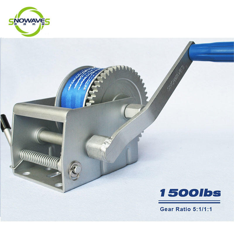 Trailer hand winch 5:1/1:1(2 speed) 700kg pulling SW1500A-2