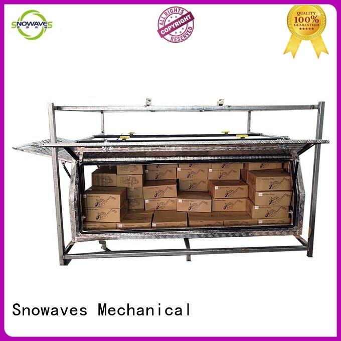 Snowaves Mechanical pickup custom aluminum tool boxes Chinese factory for camping