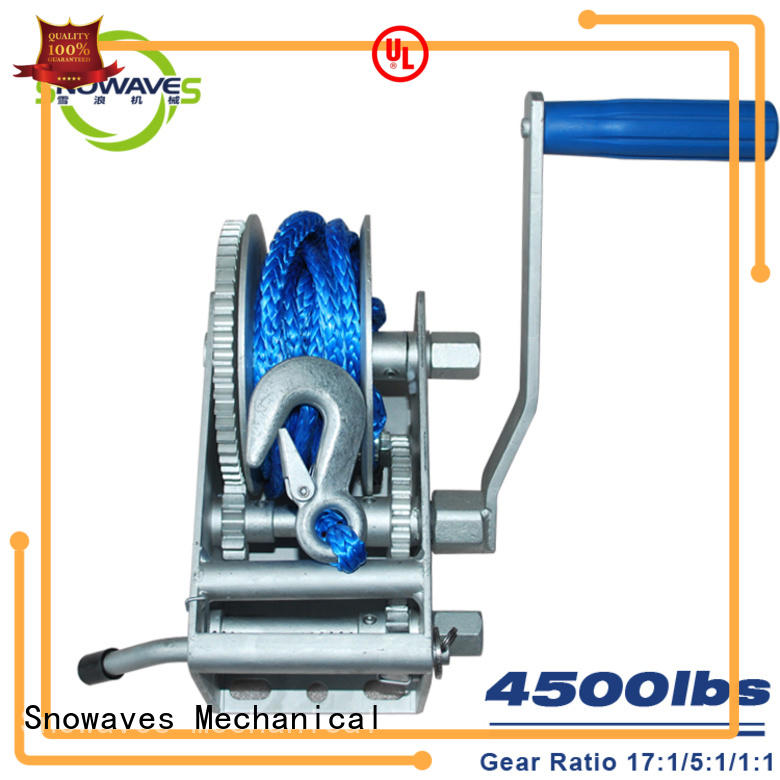 Snowaves Mechanical hand electric boat winch widely-use for one-way trips