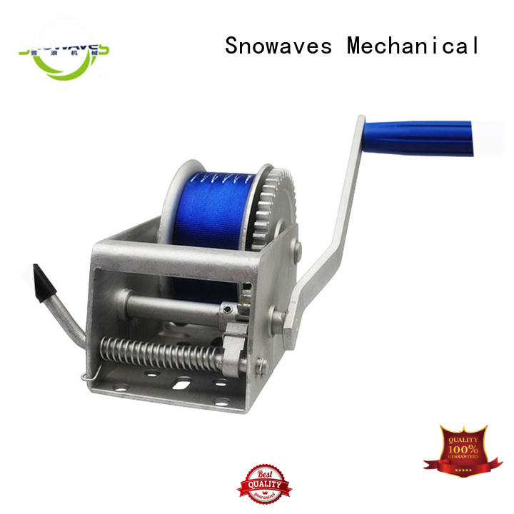 Snowaves Mechanical trailer Marine winch wholesale supplier for picnics
