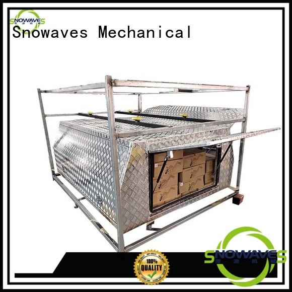 Snowaves Mechanical Best aluminum trailer tool box factory for camping
