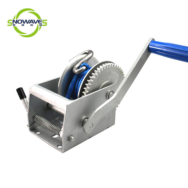 Snowaves Mechanical Custom boat hand winch supply for car-1