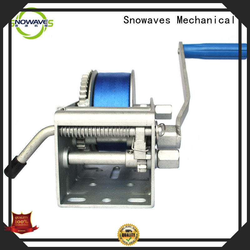 Snowaves Mechanical hand Marine winch factory for one-way trips