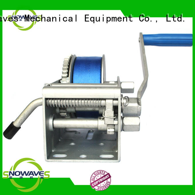 Snowaves Mechanical Wholesale Marine winch Supply for picnics