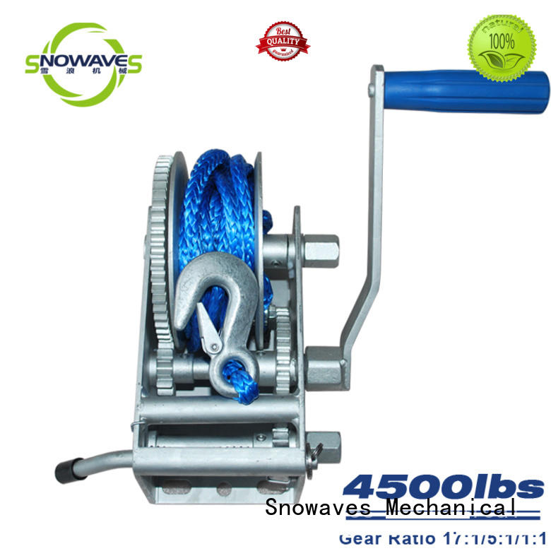 Snowaves Mechanical pulling anchor winch for sale widely-use for one-way trips