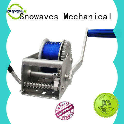 Snowaves Mechanical hand Marine winch for business for camp