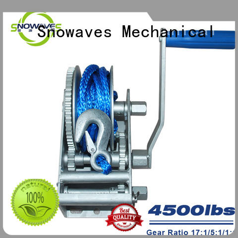 Snowaves Mechanical High-quality marine winch for sale for camp