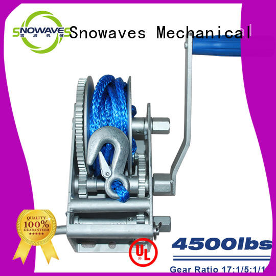 Snowaves Mechanical Latest marine winch for business for one-way trips