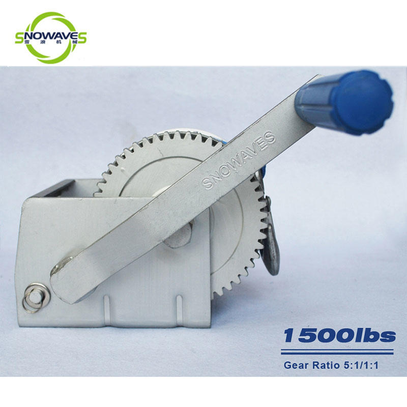 Trailer hand winch 5:1/1:1(2 speed) 700kg pulling SW1500A-1