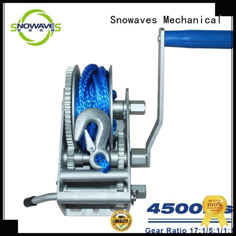 Snowaves Mechanical Custom Marine winch Suppliers for picnics