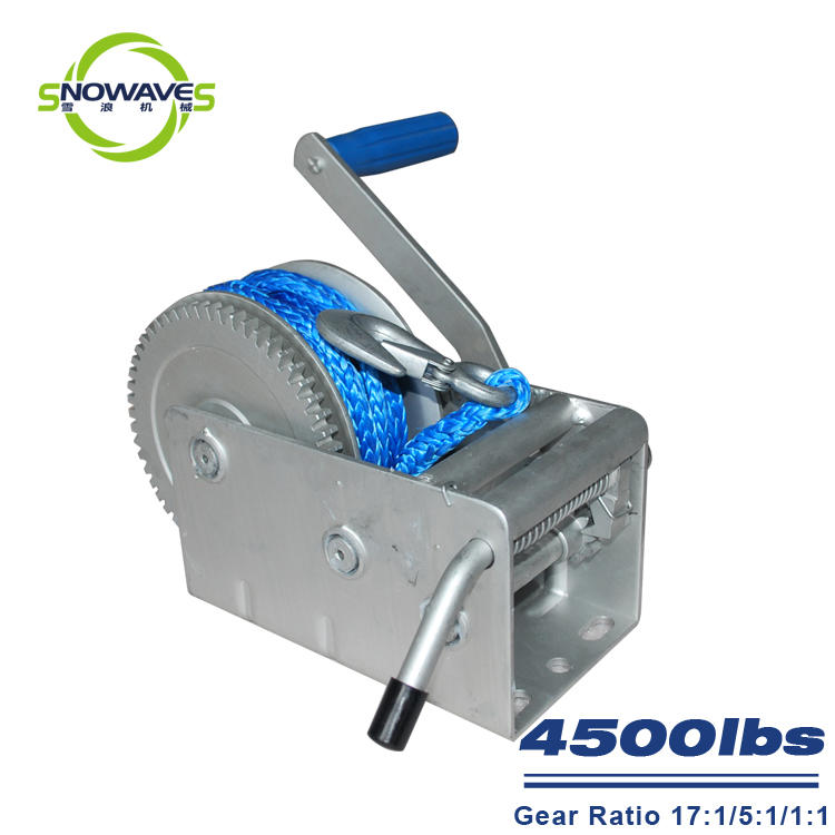 Trailer hand winch 17:1/5:1/1:1 (3 speed) 2000kg pulling SW4500-3