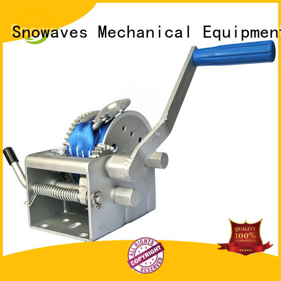 Snowaves Mechanical Custom marine winch for business for camping
