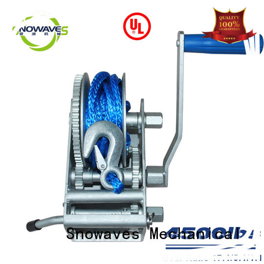 Snowaves Mechanical single Marine winch factory for picnics
