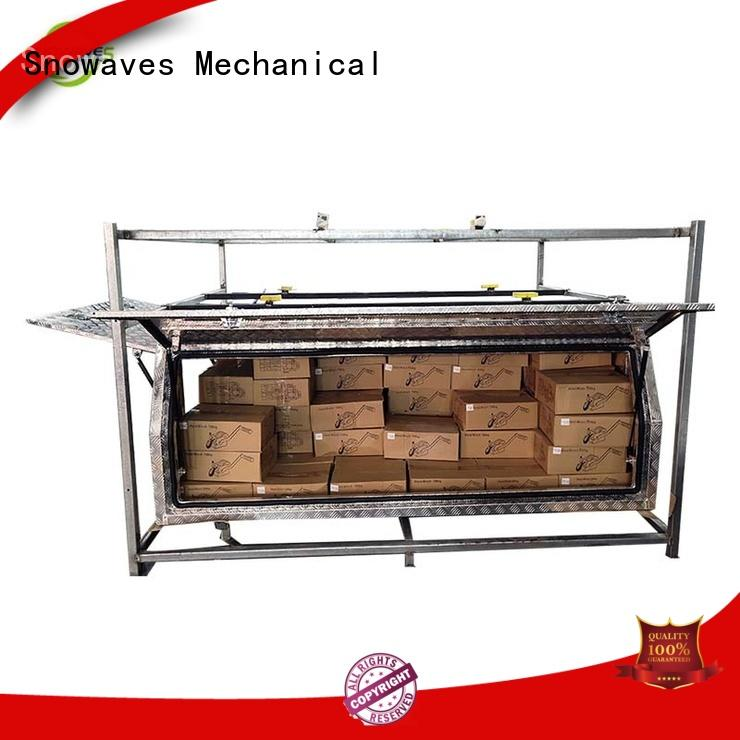 Snowaves Mechanical Top aluminum trailer tool box company for camping
