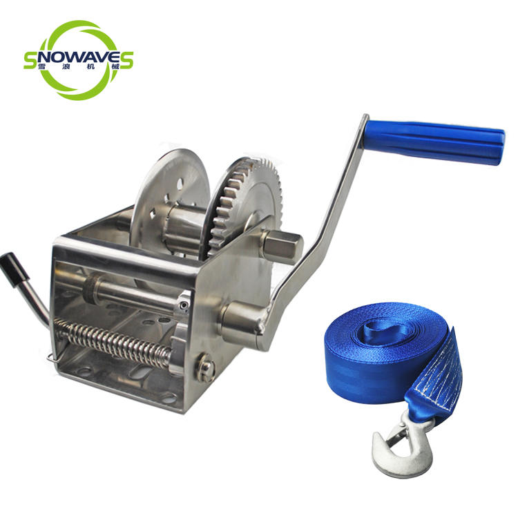 stainless steel boat trailer winch