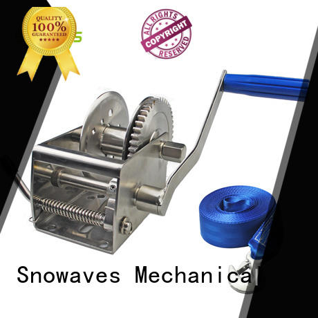Snowaves Mechanical pulling Marine winch for business for camping