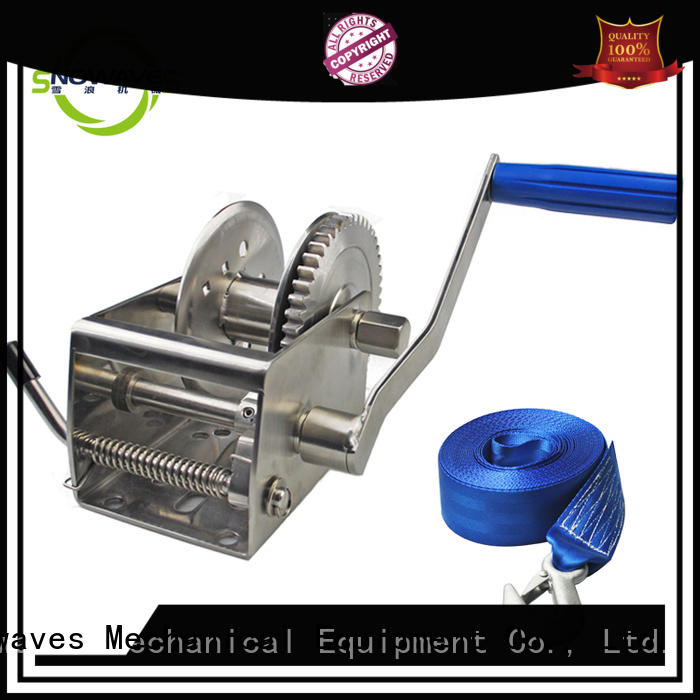 Snowaves Mechanical Wholesale Marine winch Supply for camping