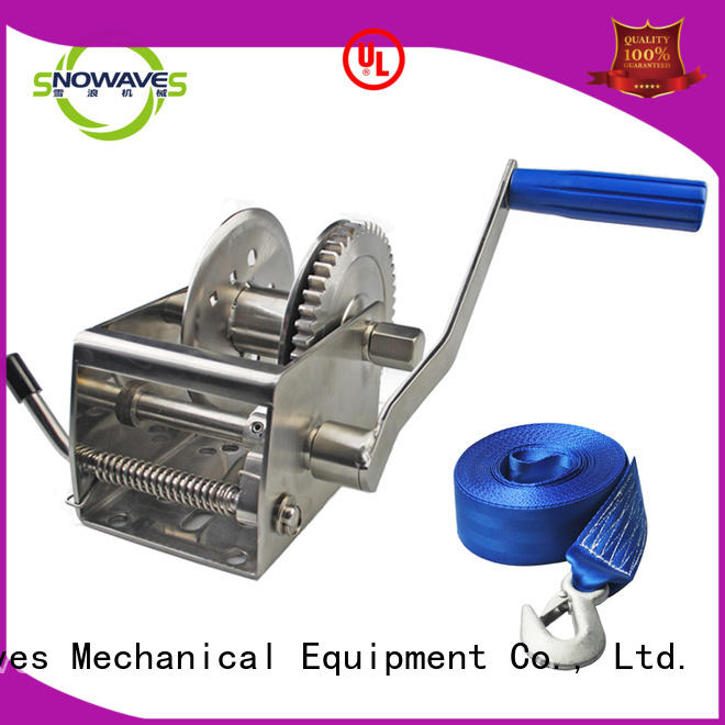 Snowaves Mechanical Latest marine winch manufacturers for camping